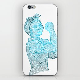 Riveter -blue iPhone Skin