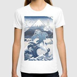 Japan Vintage Art Koi Fuji T-shirt