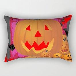 HALLOWEEN JACK O'LANTERNS & BATS ART Rectangular Pillow