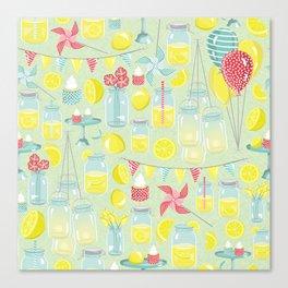 Lemonade Party Canvas Print