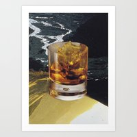 whiskey Art Prints featuring whiskey by Mirawek Wolff