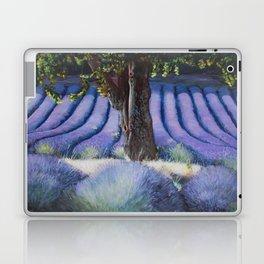 Lavender Field with Apple Tree Laptop & iPad Skin