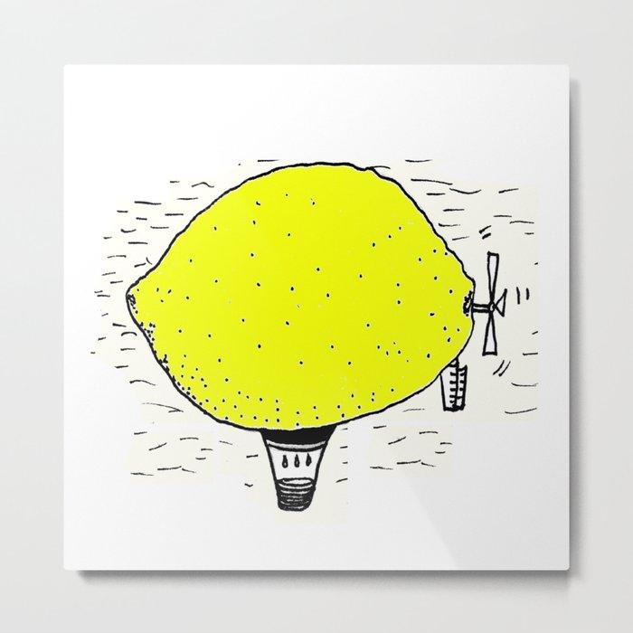 Lemon zeppelin Metal Print