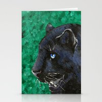panther Stationery Cards featuring Panther by Kelly Katastrophe