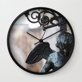 Poised Angel Detail Wall Clock