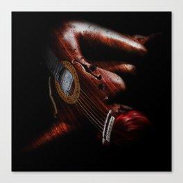 Guitar Woman Canvas Print