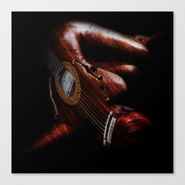 Guitar Woman Canvas Print