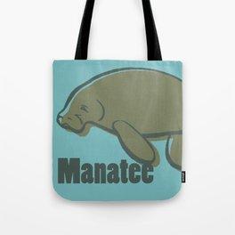 Animal Alphabet - Manatee Tote Bag