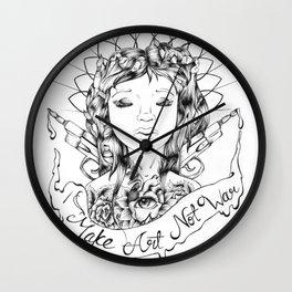 Make Art Not War  Wall Clock