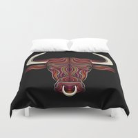 bull Duvet Covers featuring BULL by Patrick Seymour