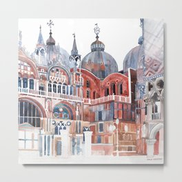 Basilica San Marco, Venezia Metal Print