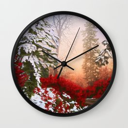 Christmas Way Wall Clock