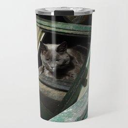 Postapocalypse Kitty Awakens Travel Mug