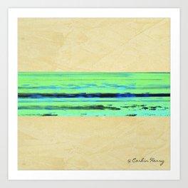 Modern Movement 001 - Signed - Abstract Landscape Canvas Art - Comforters - Bedding - Metal Prints Art Print
