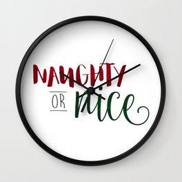 Naughty Or Nice Wall Clock