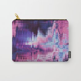 Violet Abstract Glitch effect Carry-All Pouch
