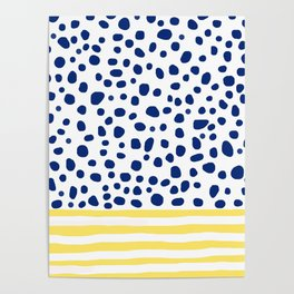 Navy and Yellow Dotter Poster