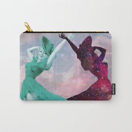 Cloudy Space with Girls Dancing Carry-All Pouch