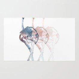 Ostrich. Rug