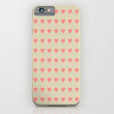 Pastel Heart Valentine Pattern Background Slim Case iPhone 6s
