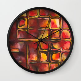 Red Blood Cells in Flow Wall Clock