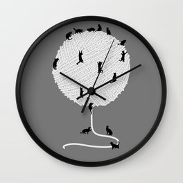 A Cats' Wandering  Place Wall Clock