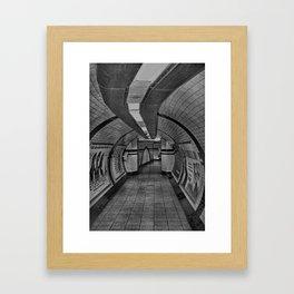 London Underground Walkway Framed Art Print