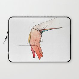 The Left, abstract hand art, NYC artist Laptop Sleeve