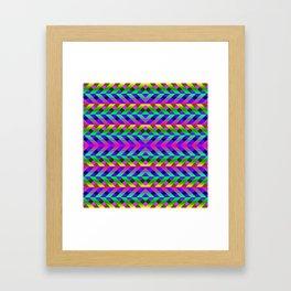 Rainbow Scaffolding Framed Art Print