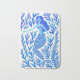 Kelp Forest Mermaid – Blue Palette Bath Mat
