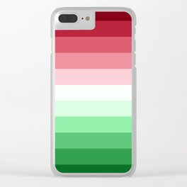Flag Gradient v2 Clear iPhone Case
