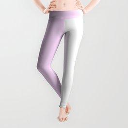 White and Pastel Violet Vertical Halves Leggings