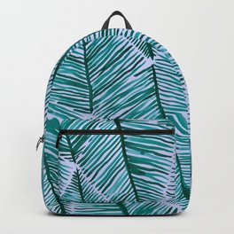 Palm Pattern Backpack