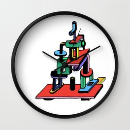 stack piece Wall Clock