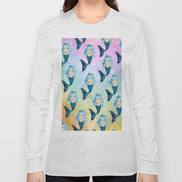 Rainbow Mermaid Bubbles Long Sleeve T-shirt