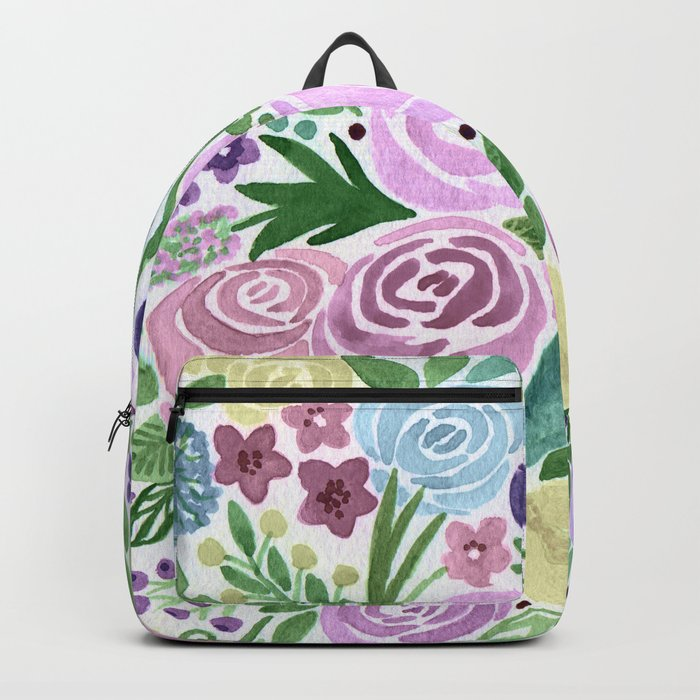 Watercolor . Macaroons in the colors . Backpack