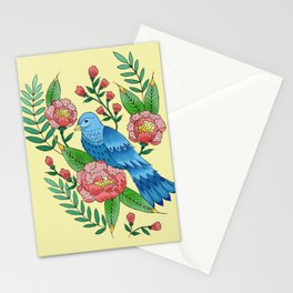 my cousin is the blue bird of happiness Stationery Cards