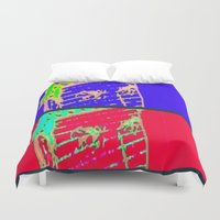 gangster Duvet Covers featuring Hot N Cold Gangster by James Eye