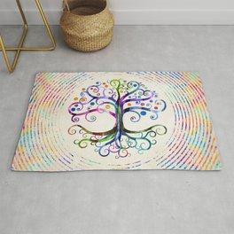 Watercolor Tree of life Rug