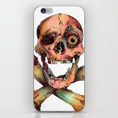 Skull in Color iPhone & iPod Skin