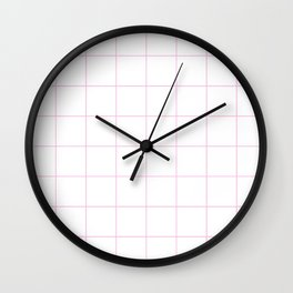 Graph Paper (Pink & White Pattern) Wall Clock