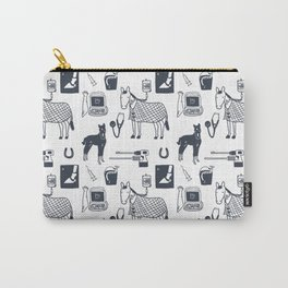 Dr Fluffton's horse clinic Dark Navy Carry-All Pouch