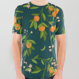 Citrus Tree - Navy All Over Graphic Tee