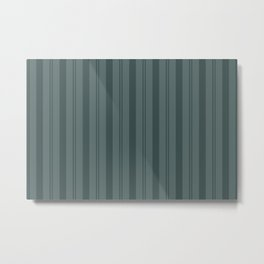 Night Watch Color of the Year PPG1145-7 Thick and Thin Vertical Stripes on Juniper Berry Green Metal Print