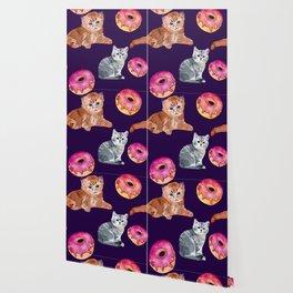 Kittens and donut Wallpaper