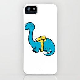 Dino Brachiosaurus school children comic gift iPhone Case