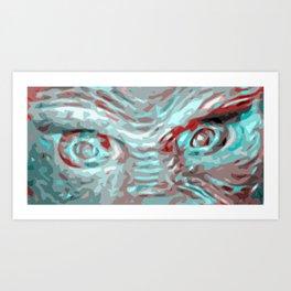 Pop Art Creature Eyes Art Print