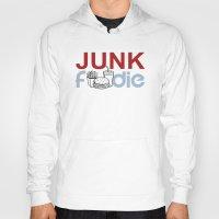 junk food Hoodies featuring I HEART Junk Food by HemantS