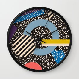 Memphis Inspired Pattern 4 Wall Clock
