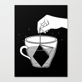 A Cup of Book Canvas Print
